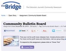Online Community Newsroom