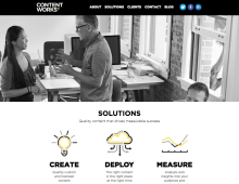 Content Works: Marketing site